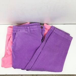 2 Gap Womens 10 Broken In Straight Leg Pink Purple